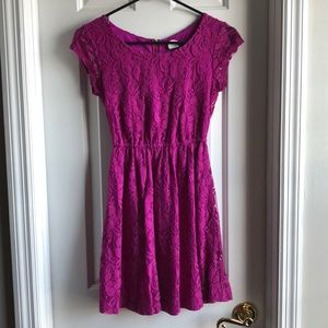 Dresses & Skirts - 💕 2 for $12 or 3 for $16 Magenta lace dress